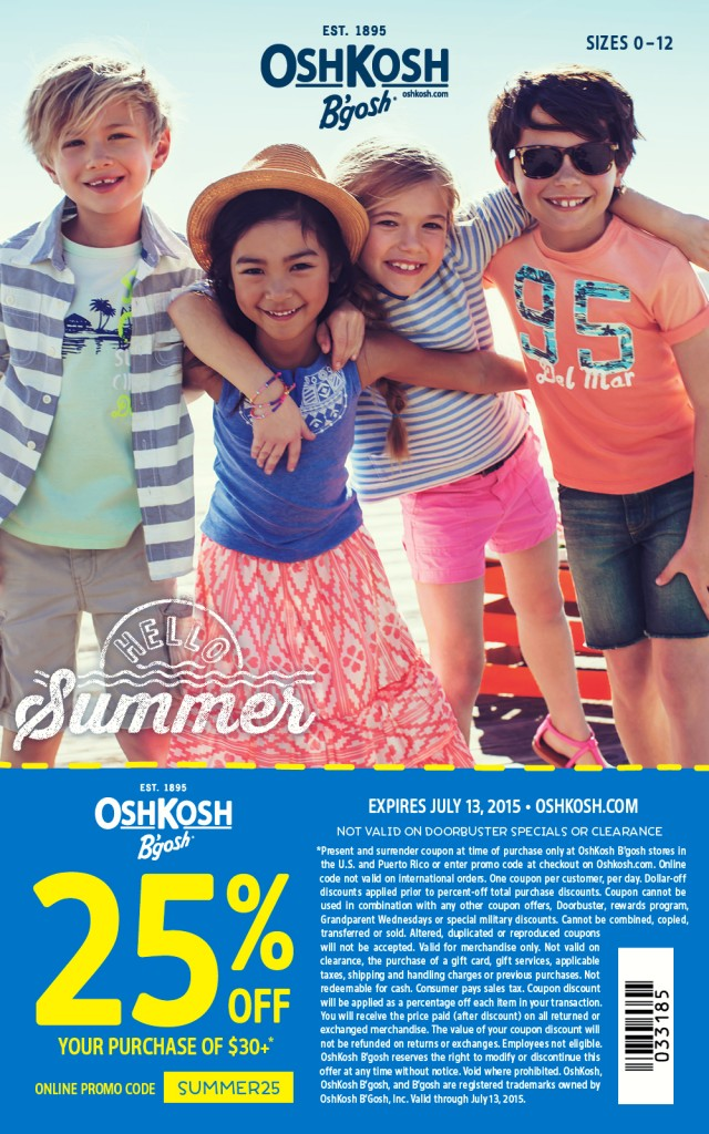 OshKosh B'Gosh Summer Styles - S'mores, Family Fun & Printable Coupon! #HelloSummerFun