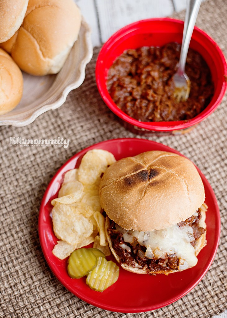 Shredded BBQ and Monterey Cheese Sandwiches - Quick Weeknight Meal!