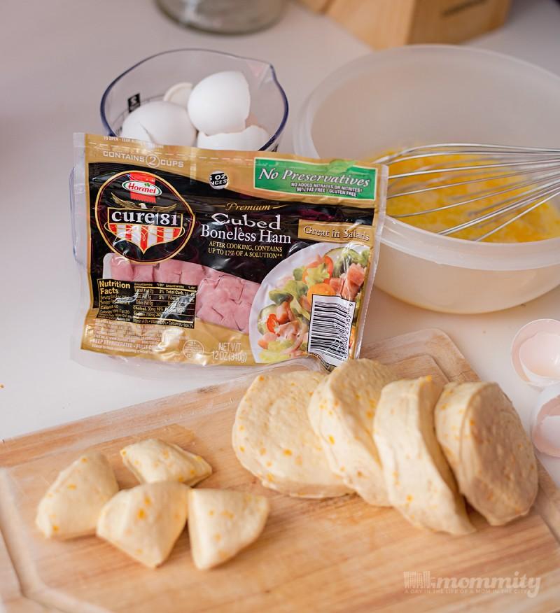 Ham, Egg and Cheese Monkey Bread - Make Ahead, Heat & Eat!