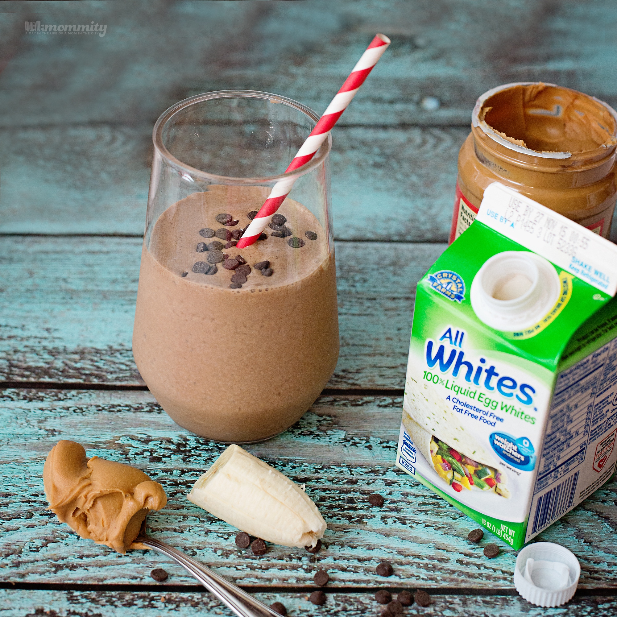 The Ultimate (And Guilt Free!) Carob Banana Nut Protein Smoothie