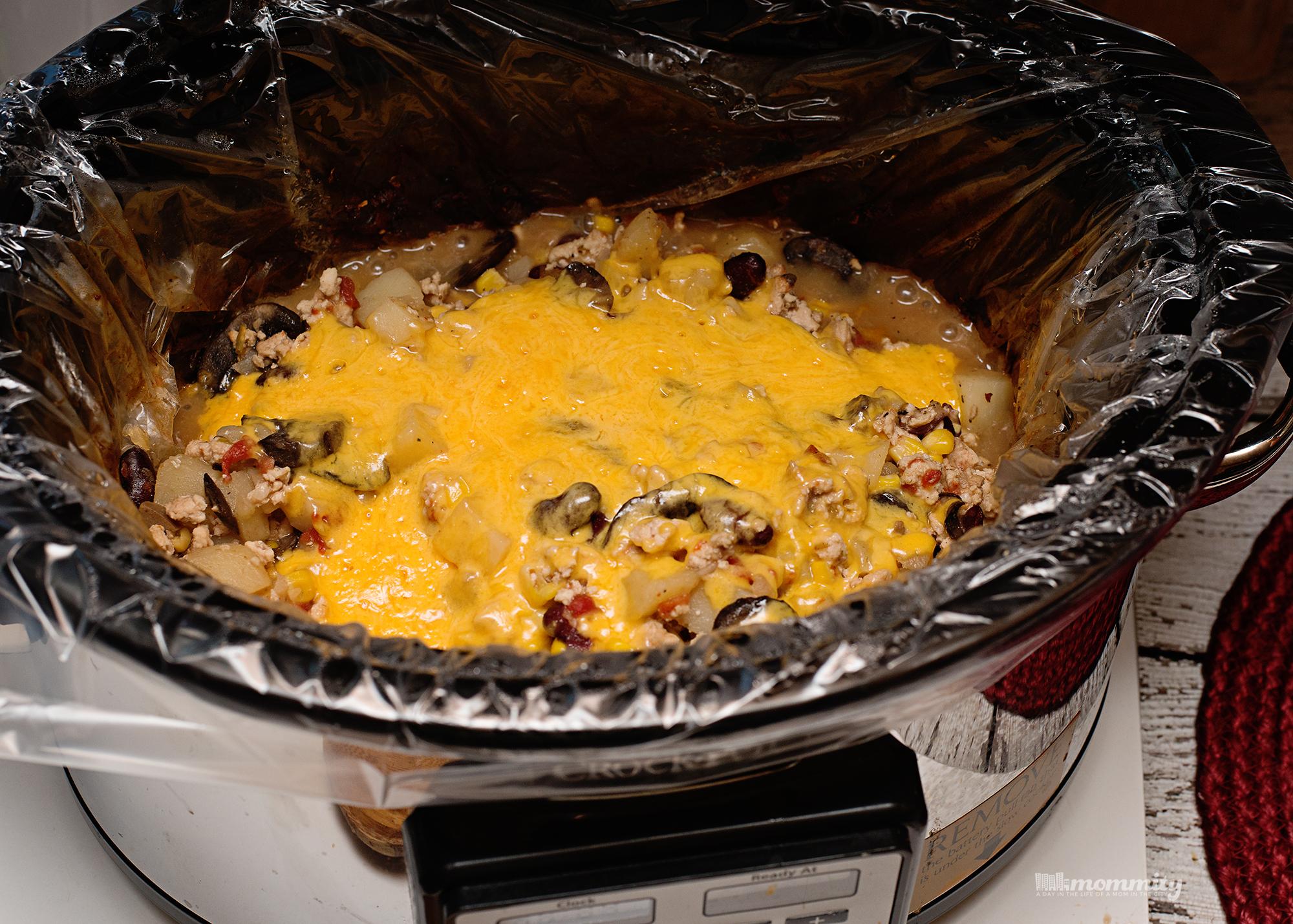 Cheesy Potatoes Cowboy Casserole {Crockpot Giveaway!}