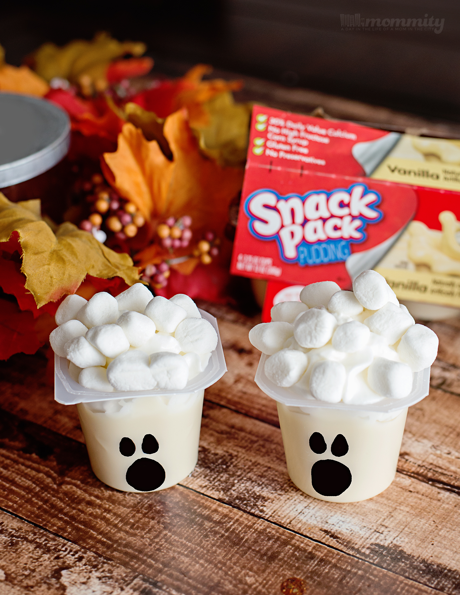 Ghostly Pudding Cups Dessert - Fun DIY with Kids!
