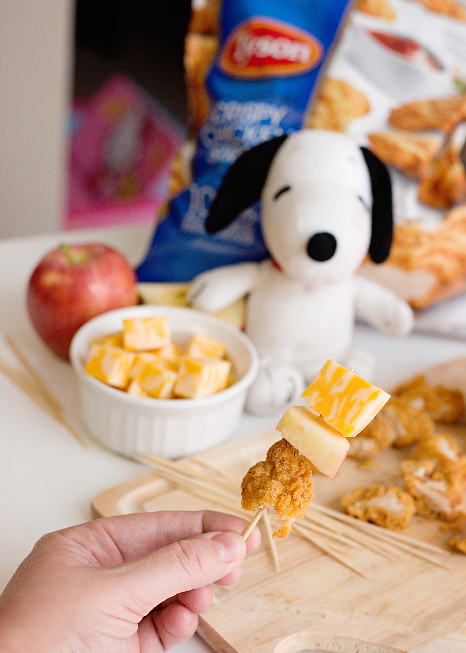 Kid Friendly Chicken Kabobs - Peanuts Movie Inspired Snacks