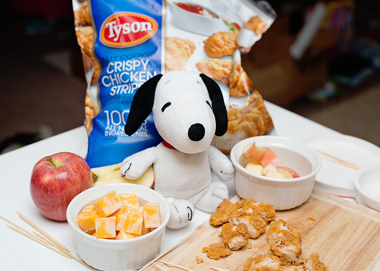 Kid Friendly Chicken Kabobs - Peanuts Movie Inspired Snacks