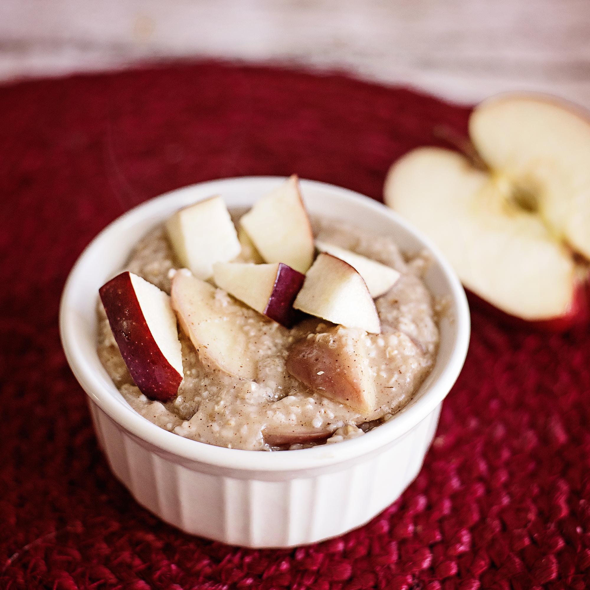 Steel Cut Oats for One - Warm Apple Pie Oatmeal