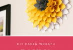 I made this DIY paper wreath dahlia to spruce up our home for the Spring. This was the perfect craft to do on a budget, all under $10!