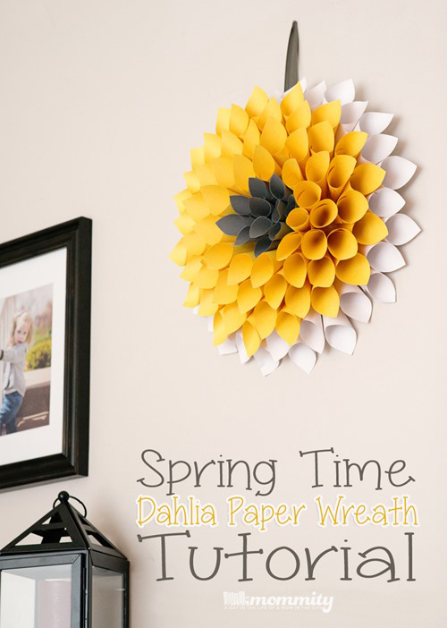 How to make a paper wreath under $10!