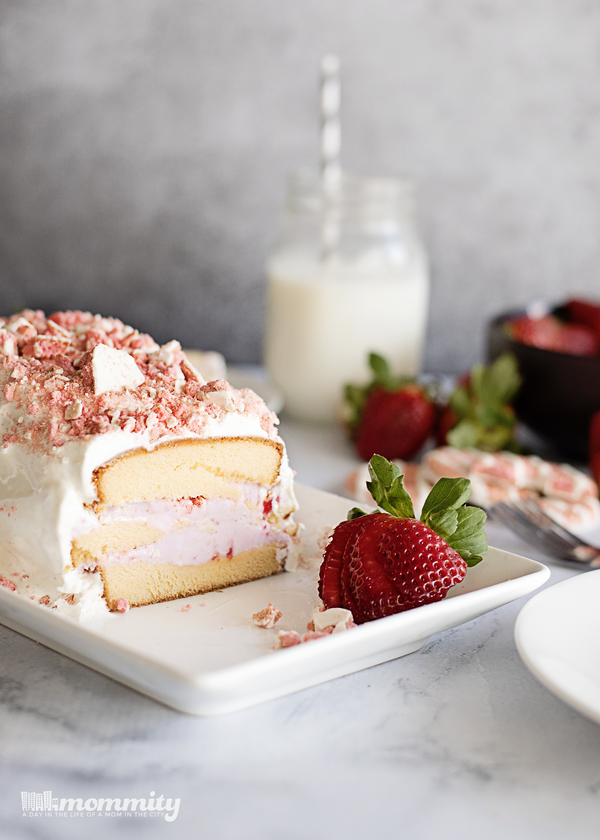 Strawberry Shortcake Ice Cream Cake Recipe Quick and Easy