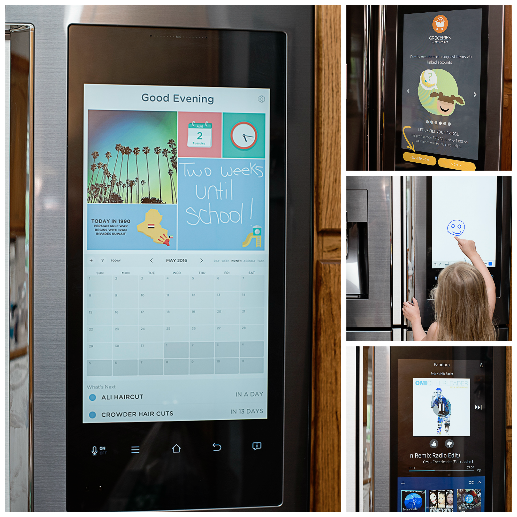 Organizing Life & Reaching Fitness Goals with the Samsung Family Hub