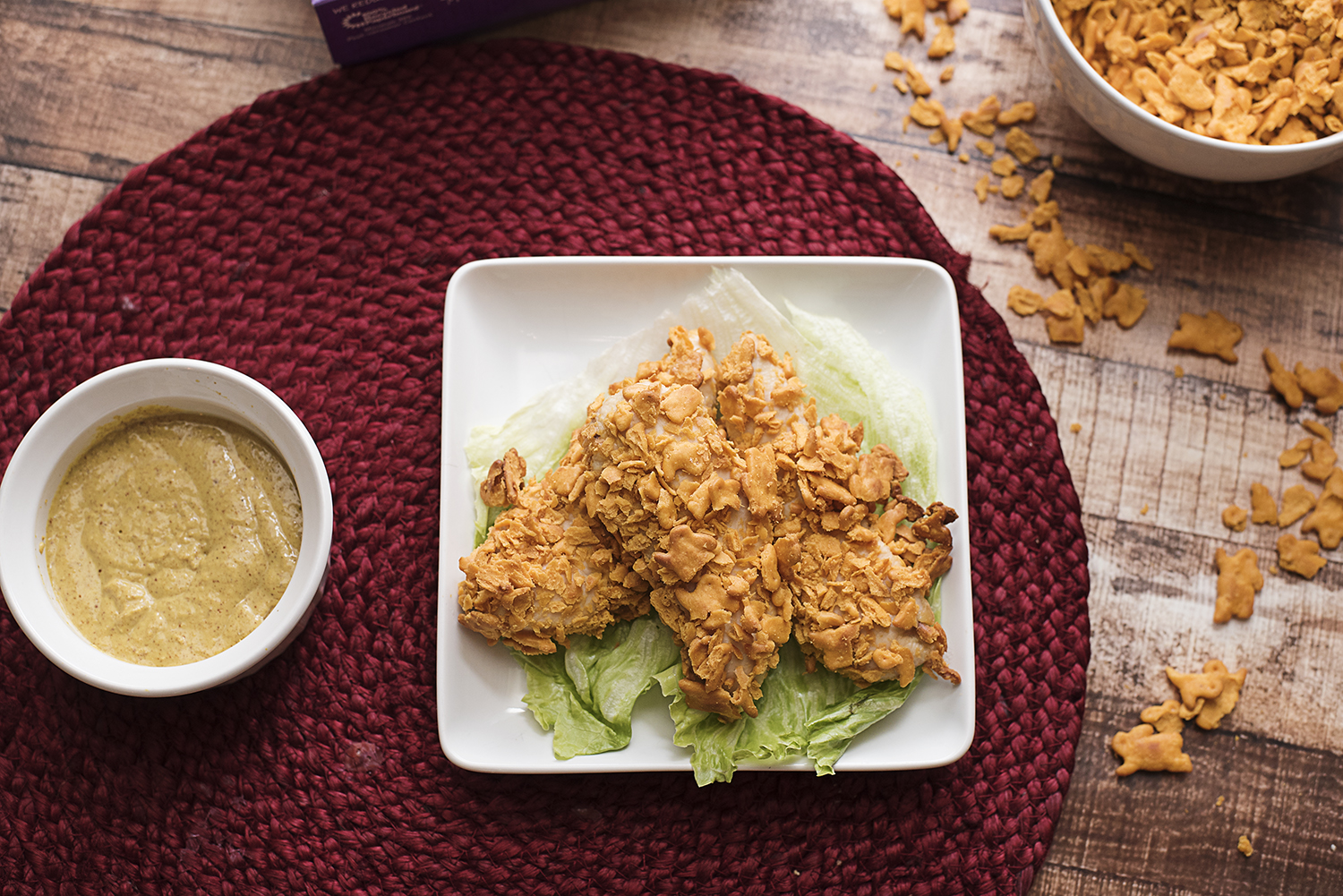 Baked Cheddar Crusted Chicken Fingers