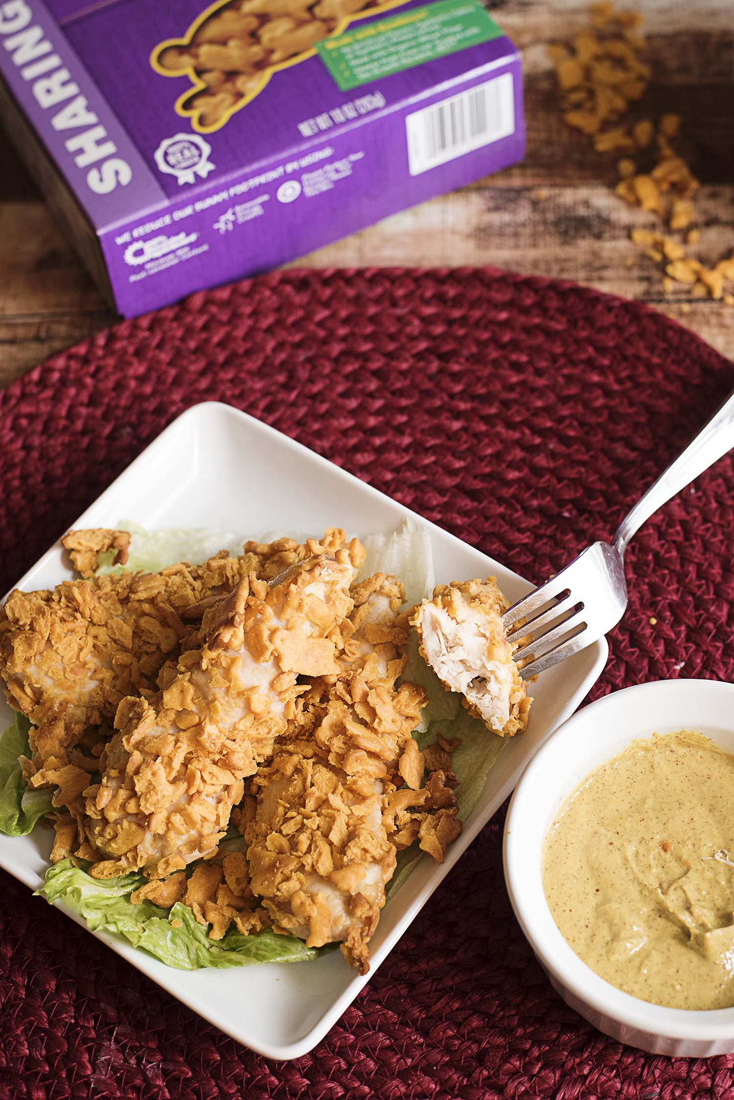 Looking to try a recipe for baked chicken fingers that are healthy and easy to make? These baked cheddar crusted chicken fingers are so easy to make and they make for a healthy kids dinner! Try it!