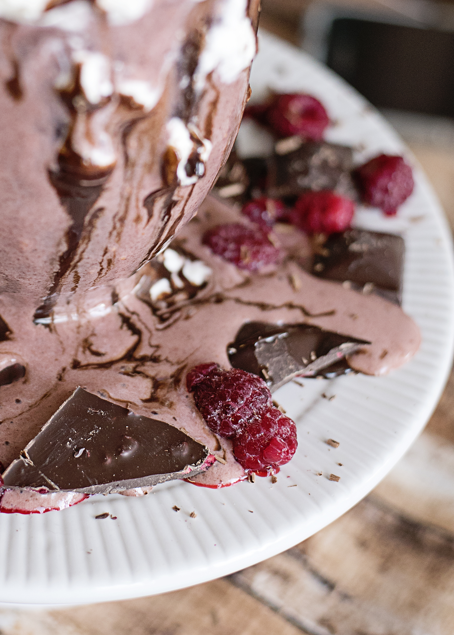 Chocolate Raspberry Protein Smoothie
