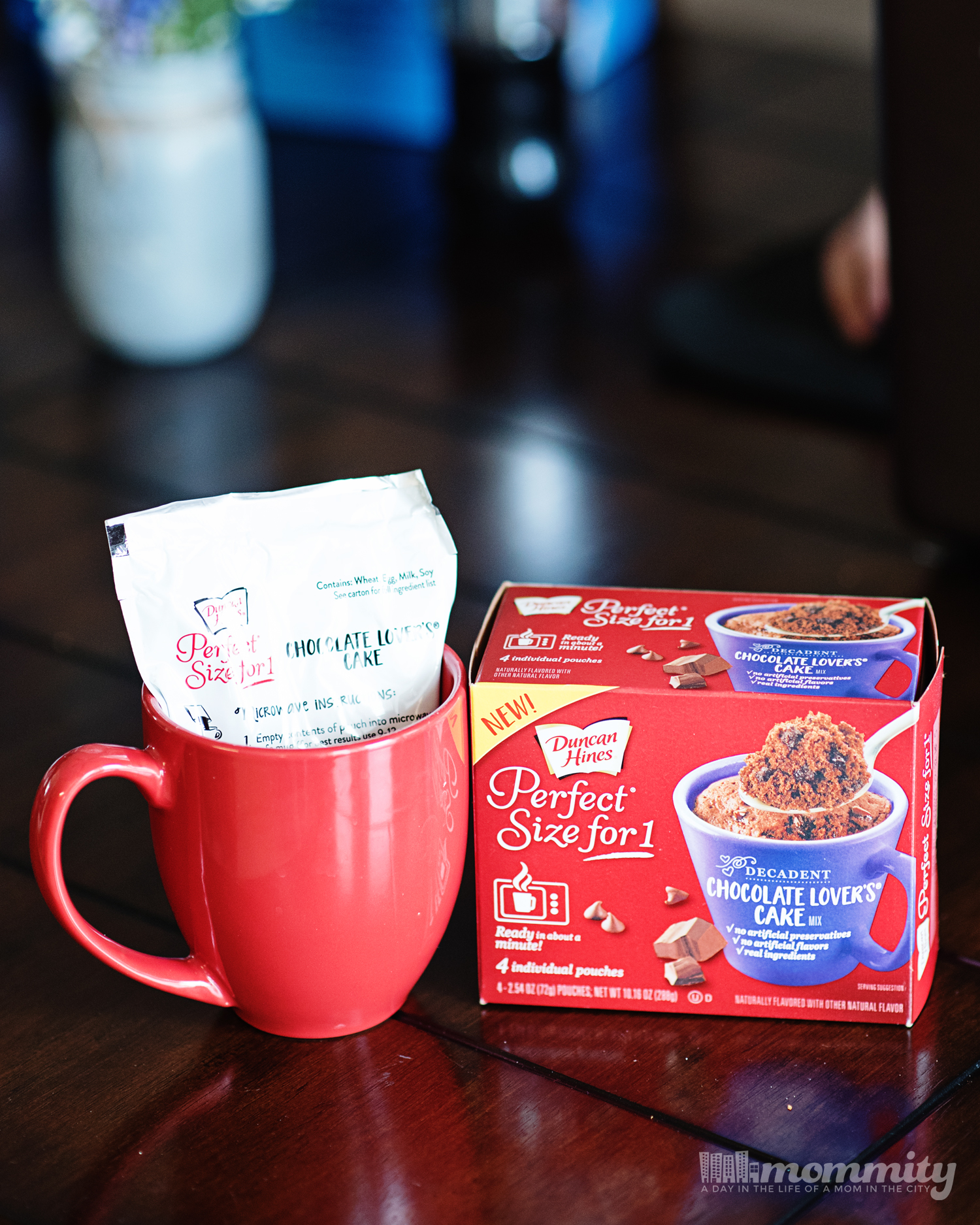Decadent, creamy cake can be made in a coffee mug, in 18 different varieties with flavors for morning, afternoon or evening indulgence. Which mix-ins will you use in this perfect size for 1 cake mix?