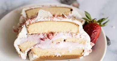 Strawberry Shortcake Ice Cream Cake Recipe Quick and Easy