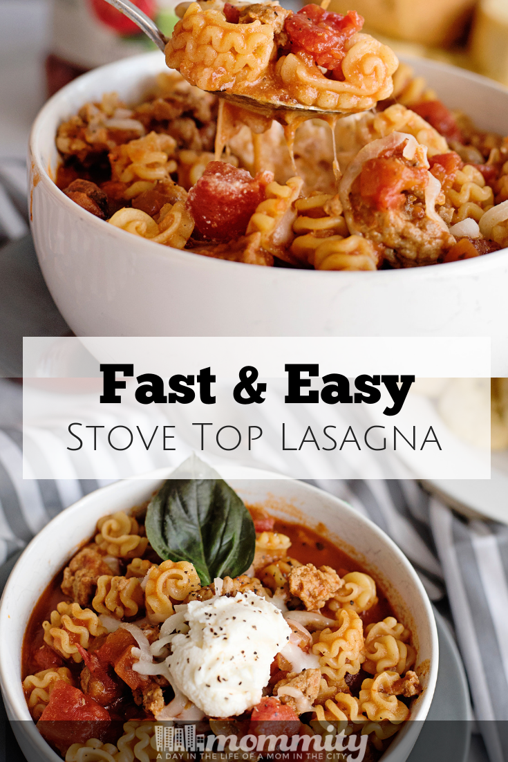 Fast and Easy Stove Top Lasagna